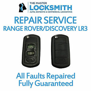Details about Range Rover Sport and Discovery LR3 key fob repair service  Inc  new casing