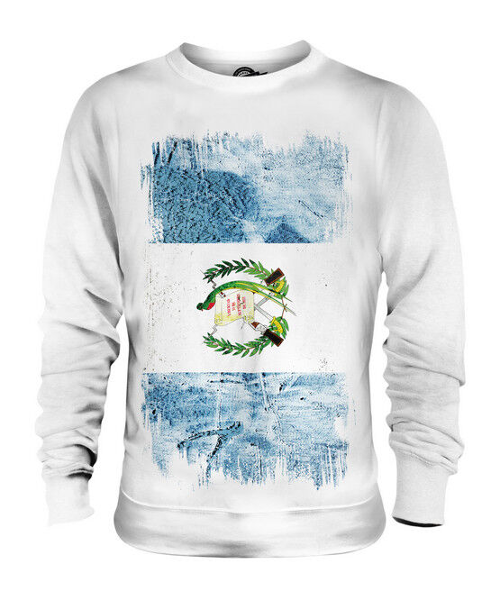 GUATEMALA GRUNGE FLAG UNISEX SWEATER TOP GUATEMALA FOOTBALL GUATEMALAN SHIRT