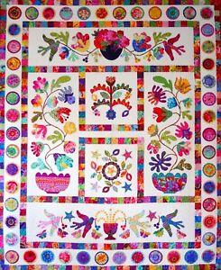 Kim Mclean Quilt Patterns.Details About Flower Pot Applique Quilt Pattern By Kim Mclean