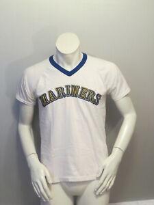 Seattle-Mariners-Shirt-VTG-Old-School-Arch-Script-by-Rawlings-Men-039-s-Medium