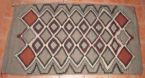 591ms-Vintage-Nativo-Americano-Navajo-Alfombra-Serrado-Diamante-Tejido-72-x-40
