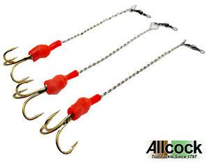 Allcock-Devon-Minnow-Mounts-4-Sizes-Replacement-Lure-Trace-Treble-Hook-3-Pack