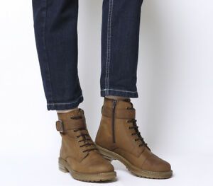 Womens-Office-Alpaca-Stud-Detail-Lace-Up-Biker-Boots-Brown-Leather-Boots