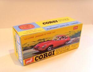 "CORGI TOYS Nº 374. superba riproduzione Display/Scatola-J aguar ""e"" tipo 2+2"