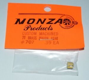 Custom-Brass-Pinion-Gear-7-Tooth-Monza-48-Pitch-078-shaft-NOS-slot-car-3-16-034