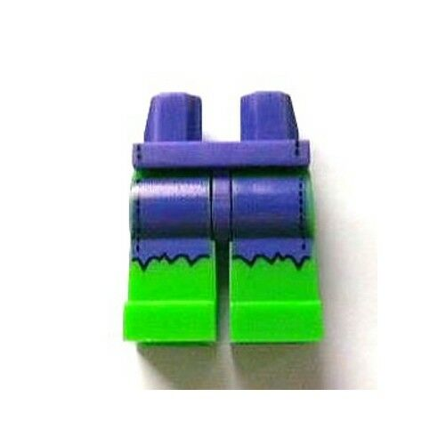 LEGO - Minifig, Hips Hips Hips and Bright Green Legs with Dark Purple Ripped Shorts (Hulk) c232c5