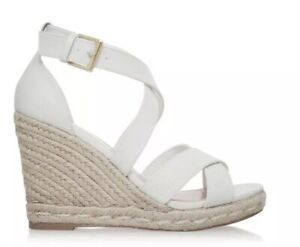 df0736403d9 Image is loading BRS-Carvela-Kurt-Geiger-Womens-Smashing-White-Wedge-