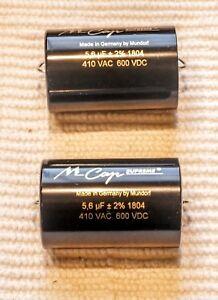 PAIR TWO Mundorf MCap Supreme Aluminum Capacitor 6.8 uf 6.80 mfd uf 600VDC