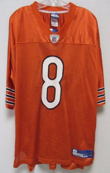 bca2db2c5 BLEMISHED NFL CHICAGO BEARS GROSSMAN  8 ALTERNATE COLORS REEBOK JERSEY  ADULT L