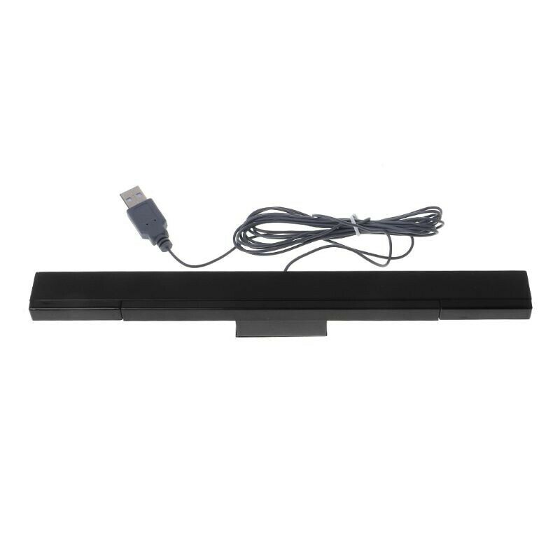 USB Wired Sensor Bar for WII Replacement Infrared IR Ray Motion Sensor Sign J3W5