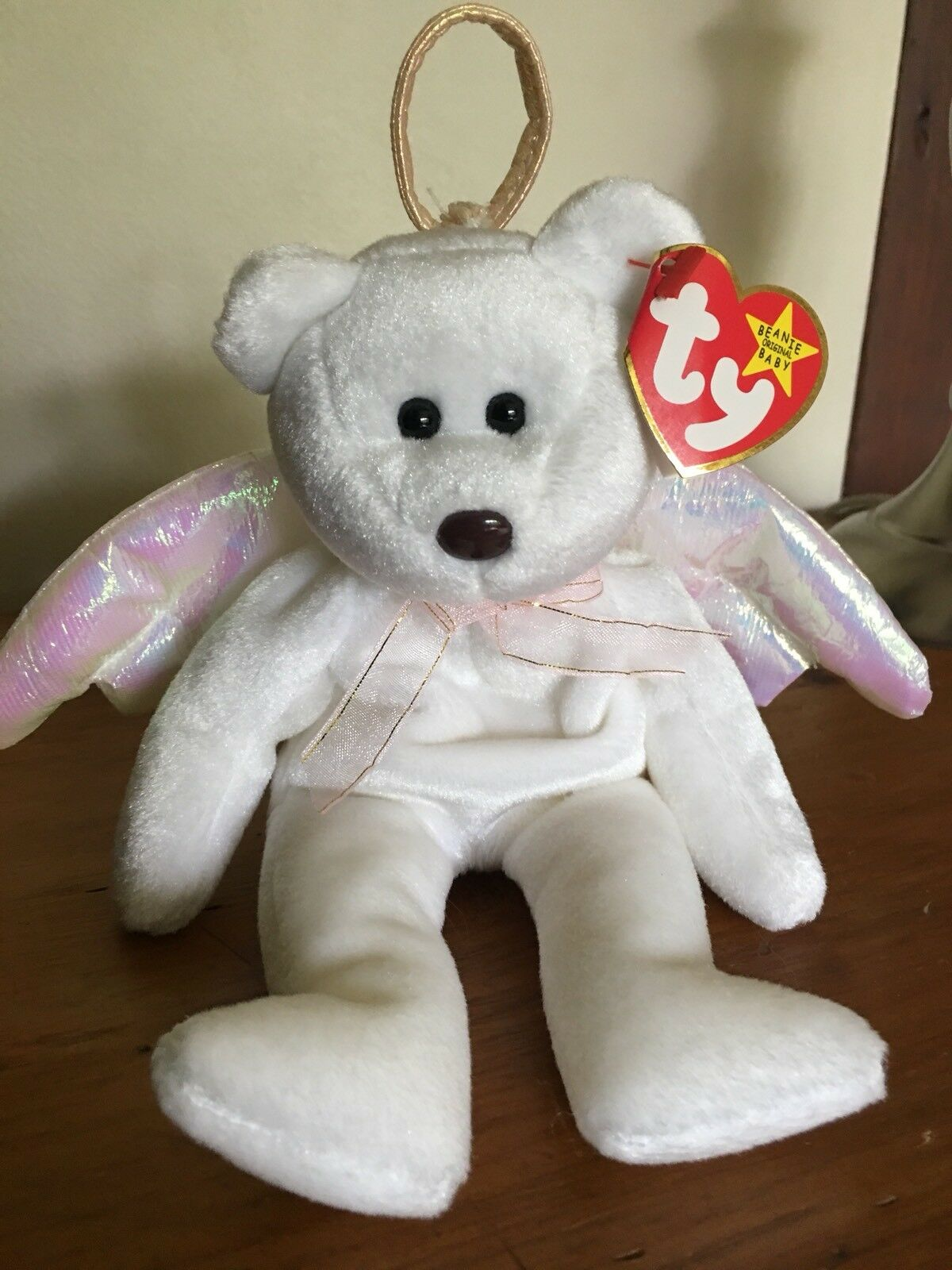 ef841d3614a Beanie Baby Halo Angel Bear With Brown Nose - Mint Condition TY ...