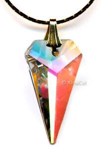 SWAROVSKI-Austrian-Crystal-Clear-AB-SPEAR-8762-25mm-Arrow-Pendant-1-inch