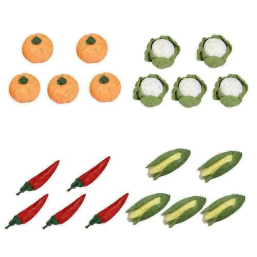 12 Stück Polymer Clay Gemüse Mini Clay Karottenfutter im Puppenhausmaßstab N6E7