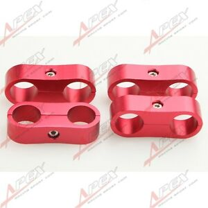 AN-6 AN6 6AN ID 13.5mm Billet Fuel Hose Separator Fittings Adapter Red