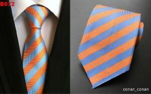 Con Motivo Arancione 8cm 100 Righe Matrimonio Artigianale Blu Cravatta Seta wqAxtUSw