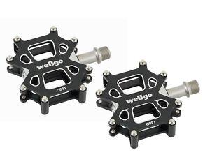 WELLGO-C091-alluminio-pedale-bicicletta-BMX-MTB-Pedali-9-16-NERO