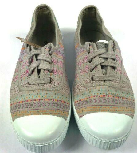 Neu Victoria Schuhwerk Tintada Elastico Estampada.color Beige Made IN Spanien