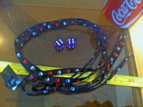 Red White Black Skull Shoelaces Lases Laces Flirt New Shoe