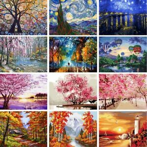 Diy Scenery Paint By Number Kit Acrylic Oil Painting On Canvas Art