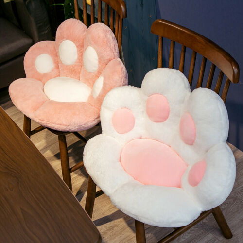 Cute Cat Paw Plush Chair Cushion Soft Seat Cushion Sofa Back Pillow Futon Mat