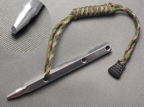 Tactical Kubaton Survival Emergency Self Defense Glass Breaker Stainless Steel#1