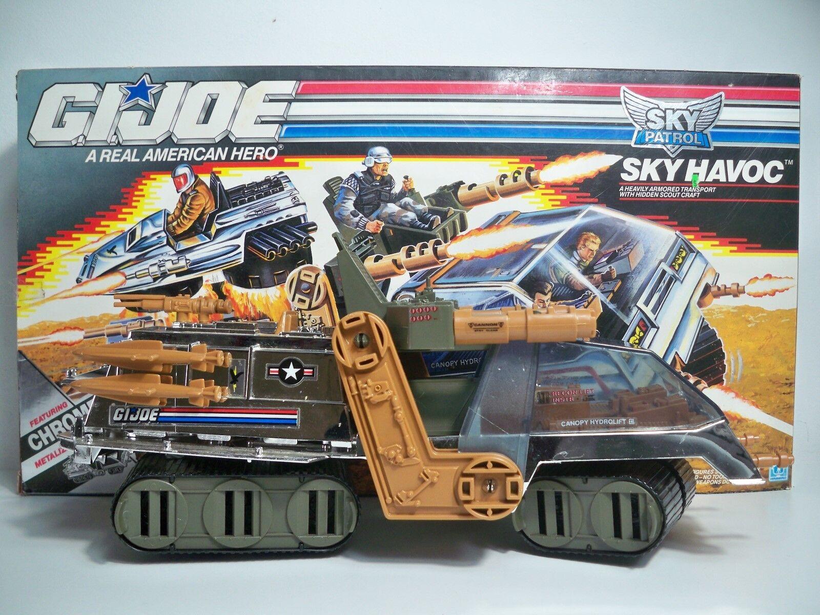 K185149 SKY HAVOC W BOX & INSTRUCTIONS 100% COMPLETE GI JOE 1990 VINTAGE