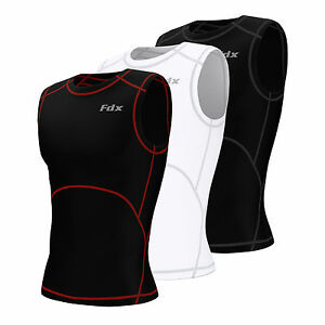 FDX-Mens-Compression-Armour-Base-Layer-Tops-Running-Sleeveless-Sports-Shirt
