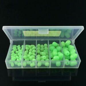 100pcs-Oval-Soft-Luminous-Fishing-Beads-Sea-Fishing-Lure-Floating-Float-Tackle-Z