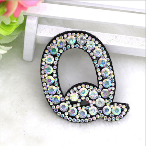 A-Z Letter Rhinestone Patch for Clothing Sewing on Embroidery Garment  Applique
