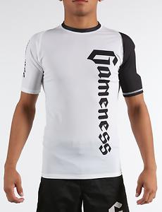 Gameness White Short-Sleeve Pro Rank Rash Guard