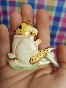 Vintage 1982 Schmid FW Co. Beatrix Potter Jeremy Fisher Frog Ceramic Ornament