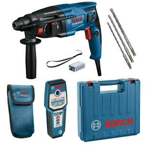 Bosch Bohrhammer GBH 2-21 inkl. Koffer, 3tlg. Bohrersatz, Leitungssucher GMS 120