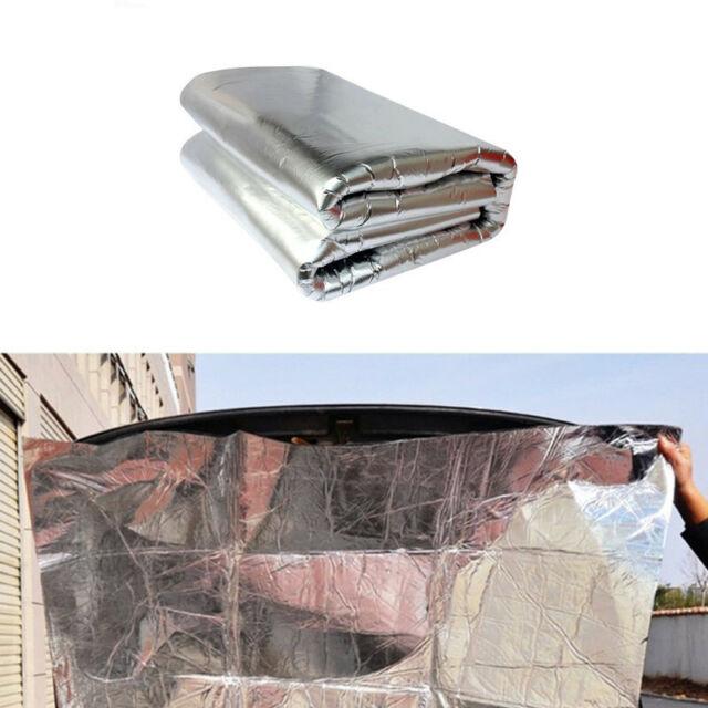 Car Hood Engine Firewall Block Heat Mat Sound Insulation Deadener Aluminum  Foil