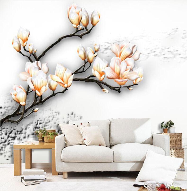 3D Filiale Fiore..Parete Murale Foto Carta da parati immagine sfondo muro stampa
