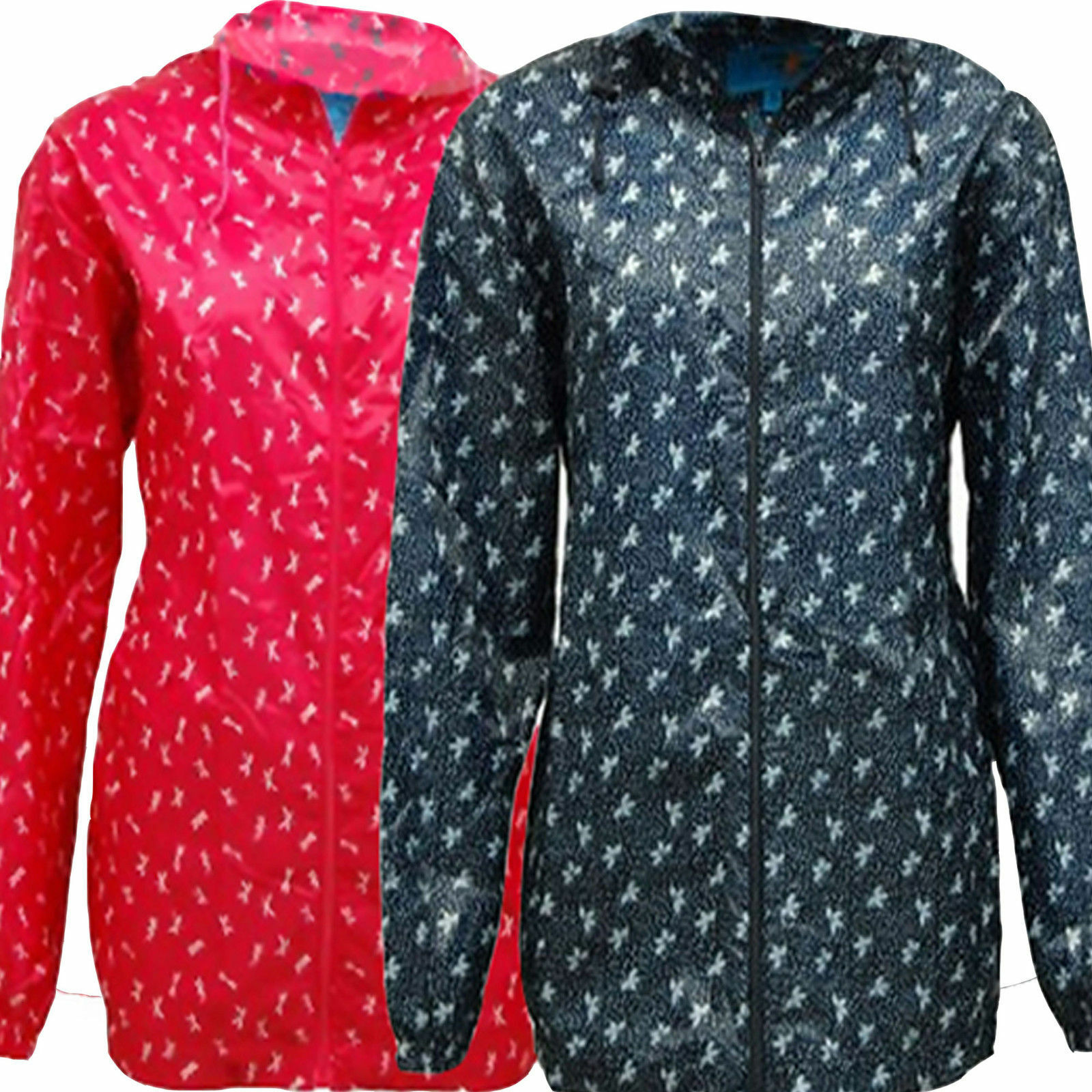 Chaqueta de lluvia impermeable / a prueba de viento impresa para hombres / mujeres / Kagool Kagoul Cagoule S-XL