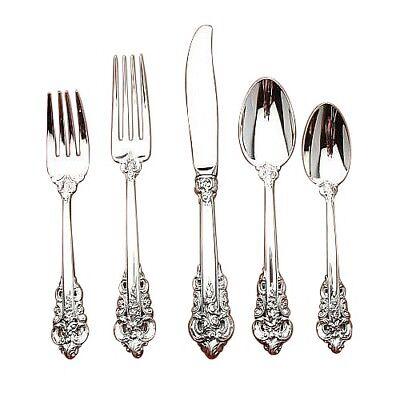"Wallace Sterling Grande Baroque 8/"" Dinner Size Fork"