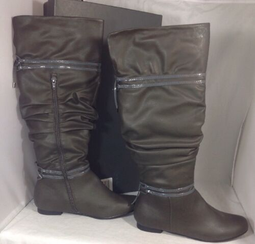 NEW KENNETH COLE Slouch Knee Boots Youth Sz 6 Women/'s Size 8 Faux Leather Shoes