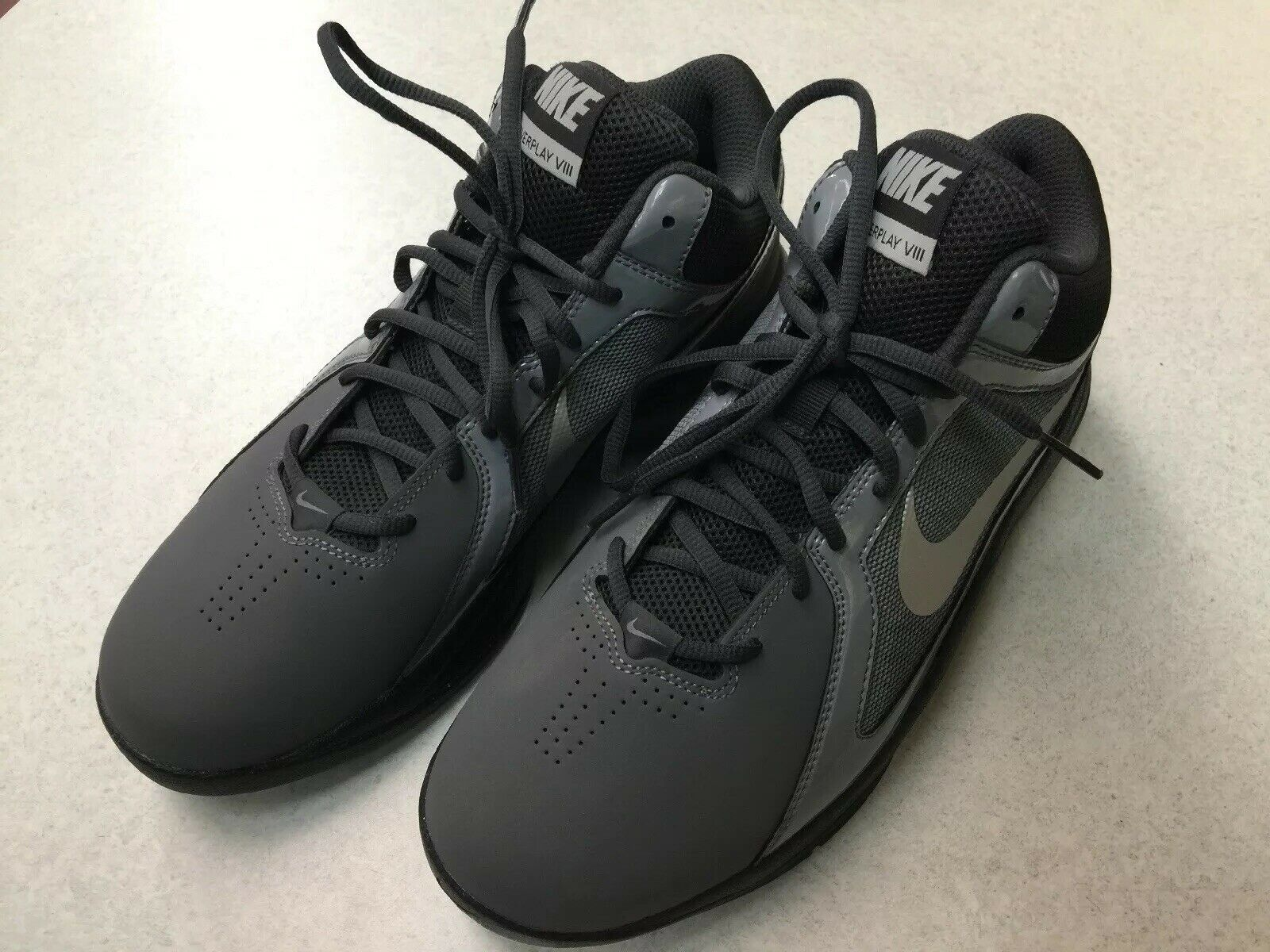 Nike Men's Air Max Overplay shoes 643168-003 Gry Blk Anth Mtlc Slvr Sz 8.5