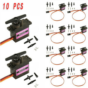 10Pcs-MG90S-Micro-Metal-Gear-9g-Servo-For-RC-Model-Airplane-Helicopter-Boat-Car