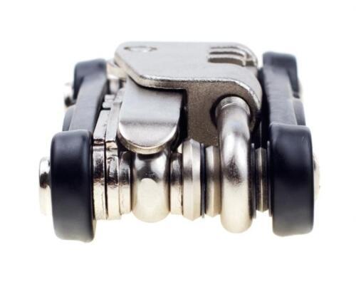 Black//Silver EyezOff 18-Function Folding Bicycle Multi Tool