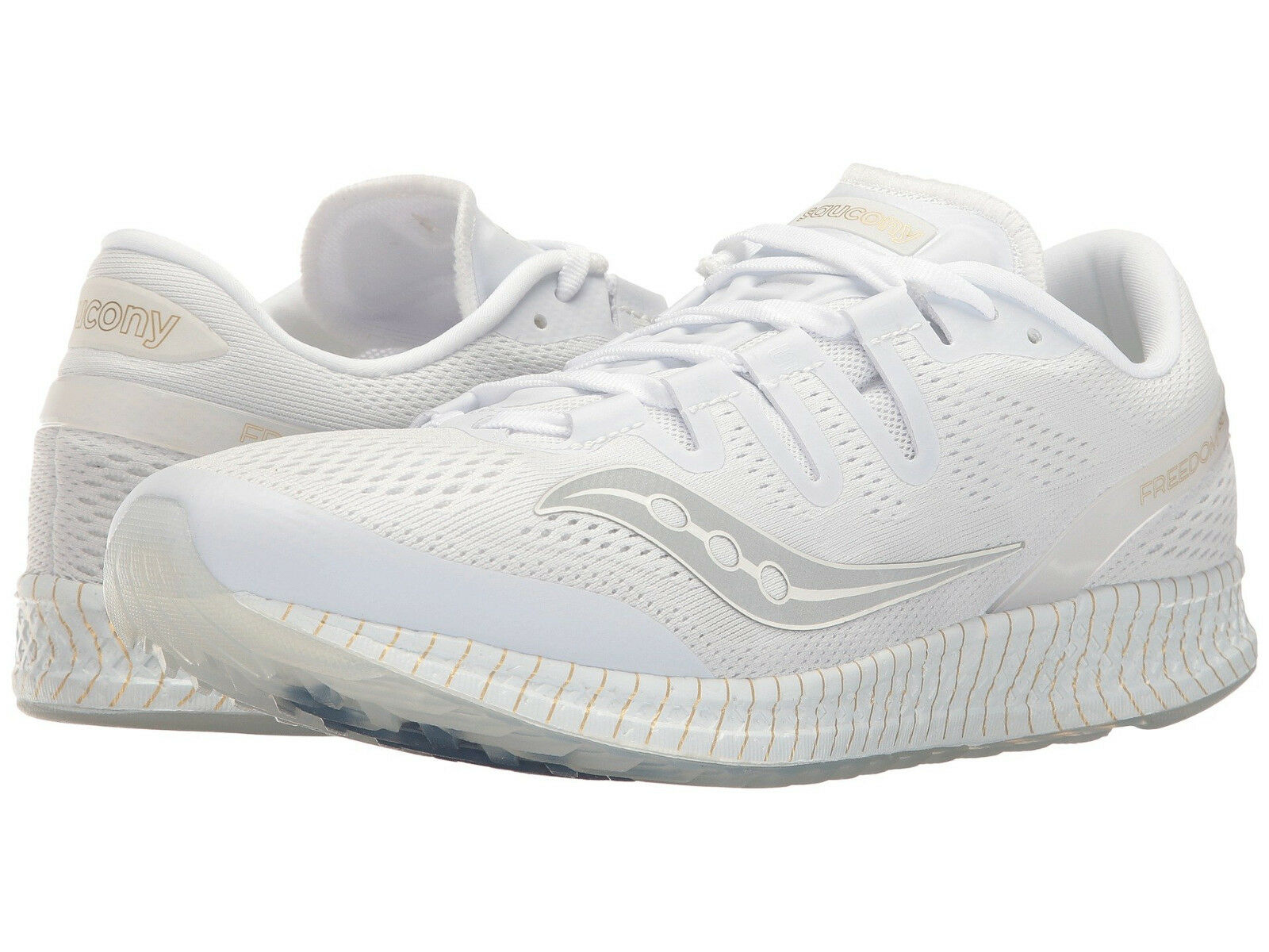 Saucony Men's Freedom ISO US 11 M White Mesh Running Sneakers shoes