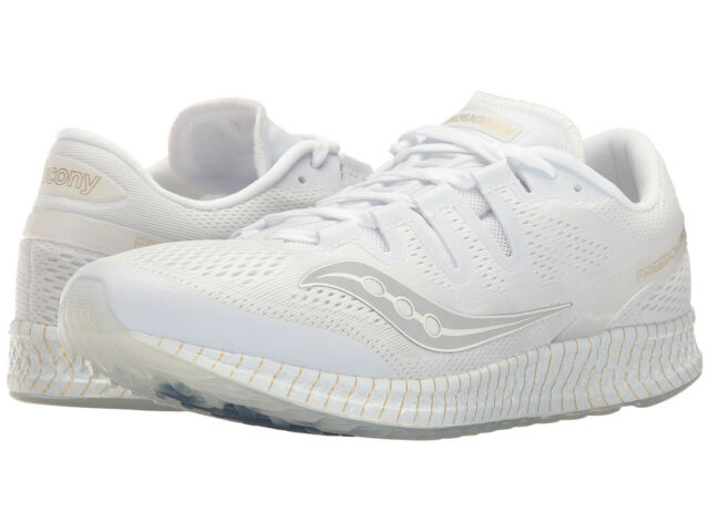 online store 77dd3 0fc04 Saucony Men s Freedom ISO US 10 M White Mesh Running Sneakers Shoes  160.00