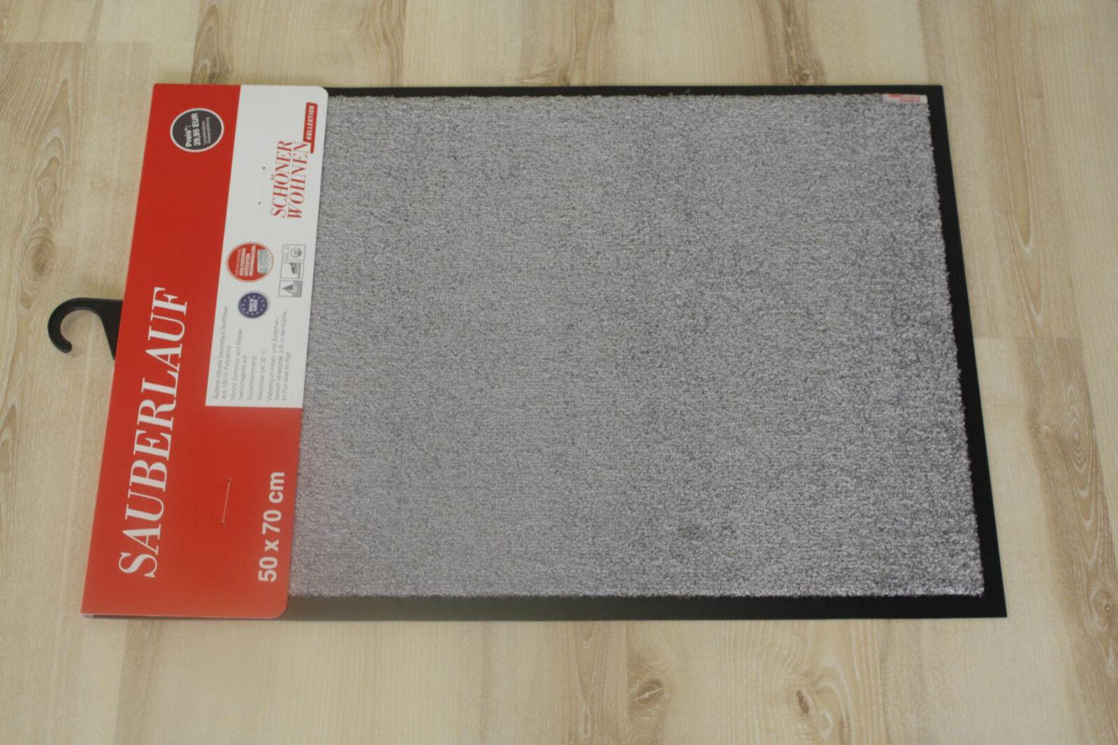 Zerbino Schöner Wohnen 001 Tinta Unita 040 Grigio 50x150 cm Zerbino