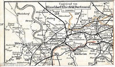 Herrlich Duisburg Gelsenkirchen Mülheim 1904 Orig. Teilkarte/ln. Dinslaken Ruhrort Essen Reich An Poetischer Und Bildlicher Pracht