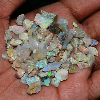 80 Pcs 5mm3mm Natural Opal Finest Quality Untreated Flashy Gems from Ethiopia