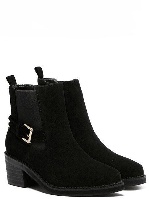 botas bajo zapatos botas militares 4 cm negro elegantes como piel 9376