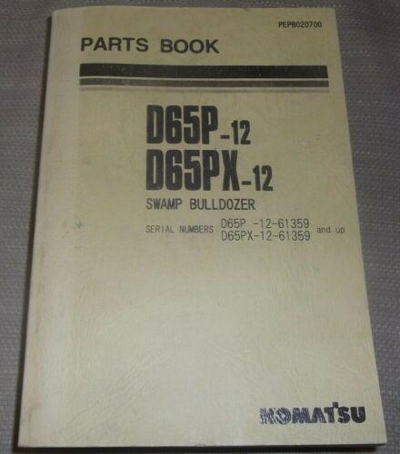 Details about  /KOMATSU D65P-12 D65PX-12 SWAMP TRACTOR DOZER PARTS MANUAL BOOK S//N 61359-UP