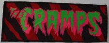 NEON UV GREEN & PINK CRAMPS PSYCHOBILLY PUNK RED TIGERPRINT OVERLOCKED PATCH