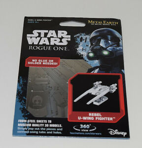 U-Wing-Star-Wars-Rogue-One-3D-Model-Kit-Laser-Cut-Authentic-Metal-Earth-NEW