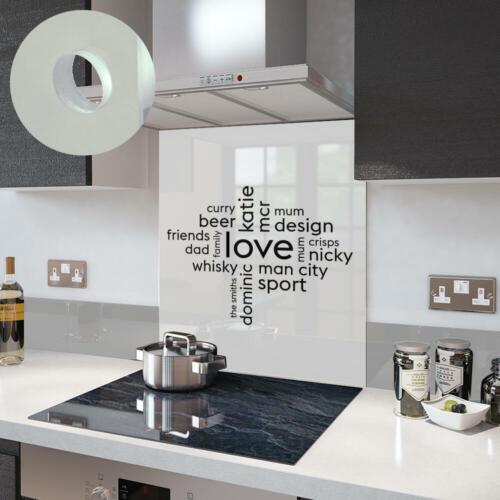 Gamme Premier Votre Propre Mot Collage sur un Verre Splashback En Blanc Love Collage